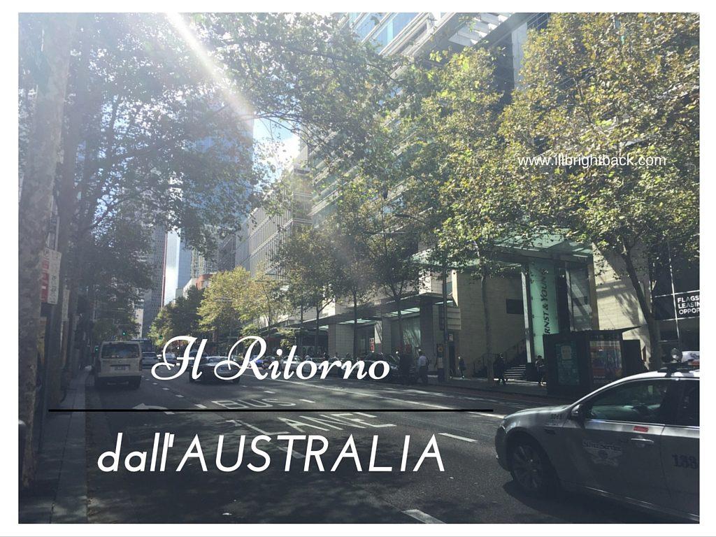 ritorno dall'Australia
